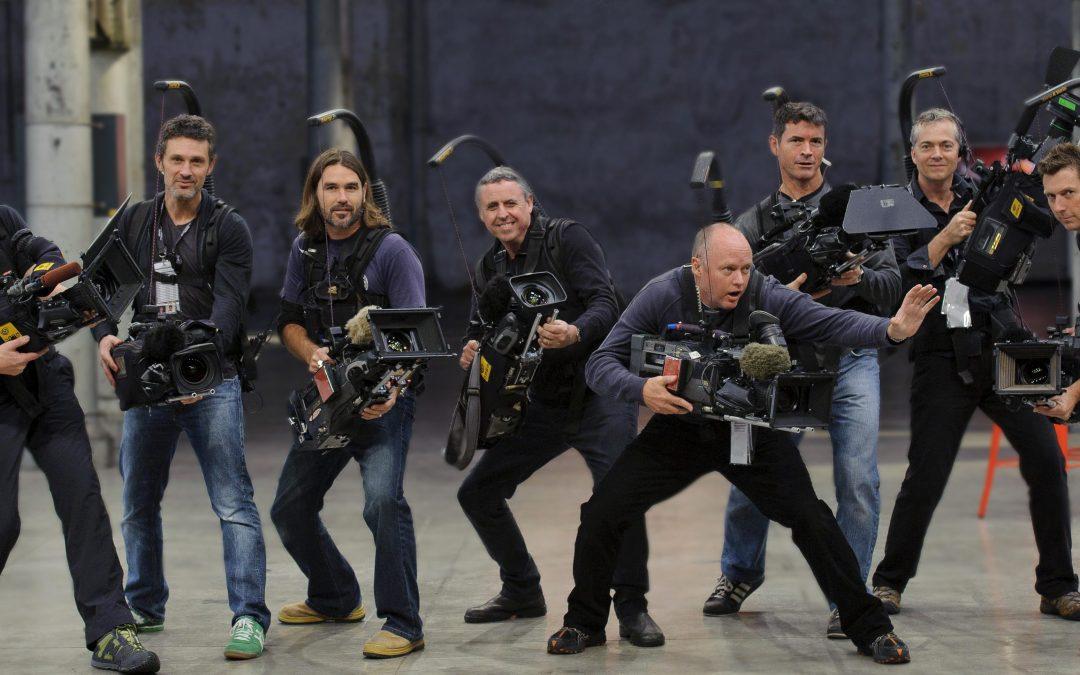 En grupp australiensiska kameramän utrustade med Easyrig.